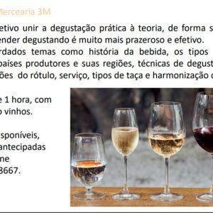 Workshop 17 de Agosto às 18h - Vinho Mercearia 3M